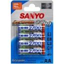 Nabíjecí baterie AA Sanyo 2700mAh Ni-Mh 4ks Blistr
