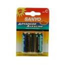 Nenabíjecí baterie C Sanyo Alkaline 2ks Blistr