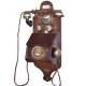 Historický telefon - Nástěnný s vidlicí a patinou