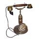 Historický telefon - Stolní kovový vysoký se sluchátkem