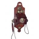 Historický telefon - Nástěnný s mikrofonem a patinou