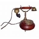 Historický telefon - Stolní kulatý mosaz s patinou