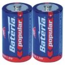 Baterie popular R20 D - 2ks
