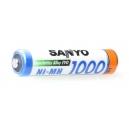Nabíjecí baterie SANYO 1000 mAh - mikrotužková AAA