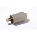 Repro konektor zástrčka kabelový přímý pájecí vývody šedý