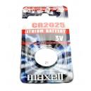 Knoflíková baterie CR2025 Maxell Lithium