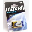 Alkalické baterie 9V maxell