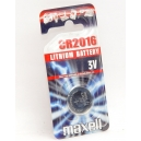 Knoflíková baterie CR2016 Maxell Lithium - 1ks