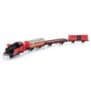 H0 - westernový vlak s parní lokomotivou s kolejemi