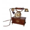 Historický telefon - Stolní vysoký mosaz s patinou