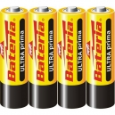 Tužkové baterie AA Popular Bateria - 4ks