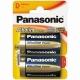 Baterie D Panasonic Alkaline - 2ks Blistr