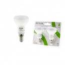 LED žárovka reflektorová E14 6W teplá bílá 2ks