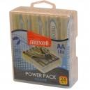 Alkalické baterie AA maxell velké balení 24ks