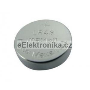 Knoflíková baterie maxell LR43 alkaline 186 AG12