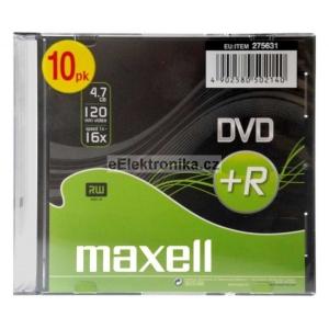 Maxell DVD+R 4,7GB 16x slimbox 10ks