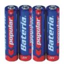 Baterie Popular Bateria AAA - 4ks