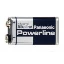 POWERLINE Panasonic Alkalické baterie 9V