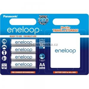 Panasonic AA 4ks 1900 mAh Eneloop + CASE