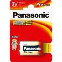 Alkalické baterie 9V Panasonic Pro Power