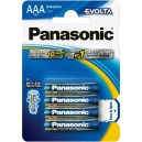 Baterie alkalické Panasonic Evolta AAA 4ks