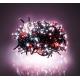 Světelný řetěz ježek červeno bílý 16m 600LED
