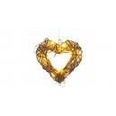 Ratanové prosvětlené srdce 21cm
