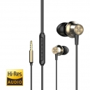 Hi-Res audio sluchátka do uší s mikrofonem
