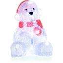 Vánoční medvídek svítící akryl LED