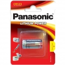 Baterie CR123A Panasonic Lithium 1ks