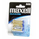 Baterie AAA Maxell Alkalické 4ks Blistr