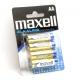 Alkalické baterie AA maxell 4ks